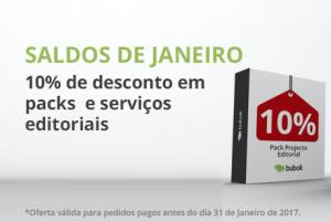 10% de desconto em packs e serviços editoriais: Saldos de Janeiro