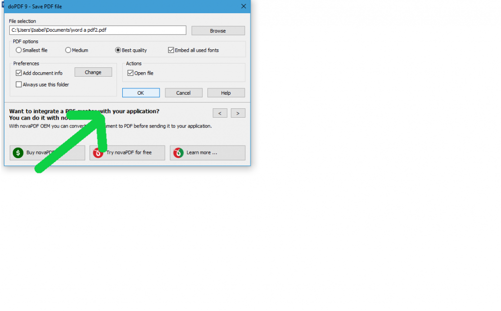 Como converter o seu word em PDF