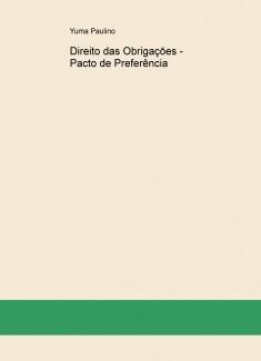 Direito das Obrigações - Pacto de Preferência