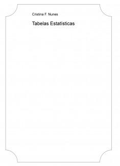 Tabelas Estatísticas