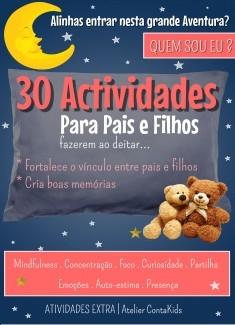 30 Actividades para pais e filhos fazerem ao deitar