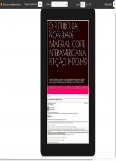 O FUTURO DA PROPRIEDADE IMATERIAL, CORTE INTERAMERICANA PETIÇÃO P-1704-19