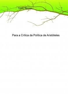 Para a Crítica da Política de Aristóteles