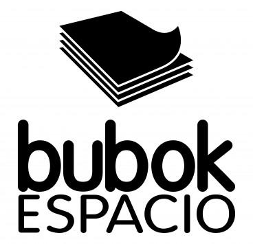 Logo do espaço bubok em preto e branco